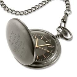 Satin Gunmetal Pocket Watch