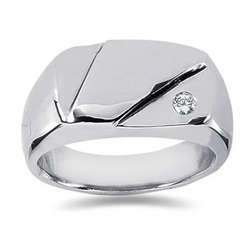 0.07 ctw Men's Diamond Ring in Palladium