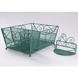 Matching Dish Rack and Sponge Rack Set