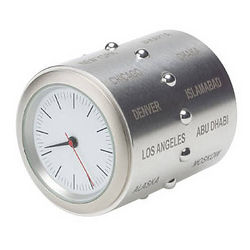 Stainless Steel World Time Clock