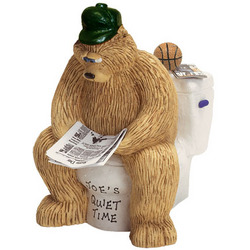 Personalized Quiet Time Sporty Daddy Bear Figurine