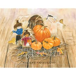Halloween Decorations Fine Art Print