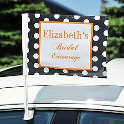 Bridal Entourage Bachelorette Car Flag