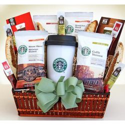 Wake Up with Starbucks Coffee Gift Basket