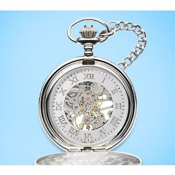 Engravable Mechanical Pocket Watch