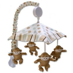 Morgan the Monkey Musical Crib Mobile