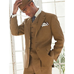 Three-Piece Linen Suit