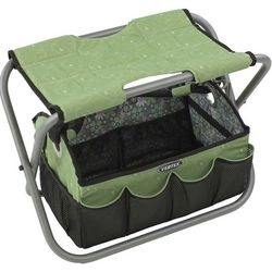 Designer Sit-N-Tote Seat with Gardening Storage