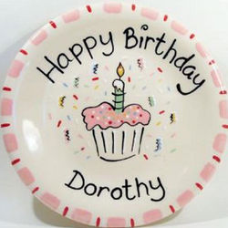 Personalized Cupcake Birthday Plate