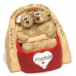 Tunnel of Love Personalized Bear Figurine