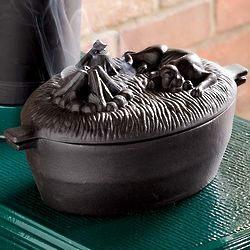 Cast Iron Dog Wood Stove Steamer