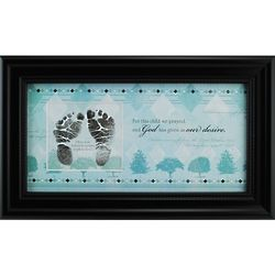 Baby Boy's Blue and Black Frame with Prayer