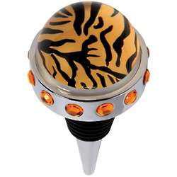Tiger Print Bottle Stopper