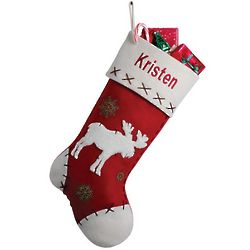 Personalized Moose Stocking