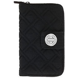 Traveler's Classic Black Turn Lock Wallet