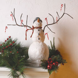 Candy Canes Galore Snowman Figurine