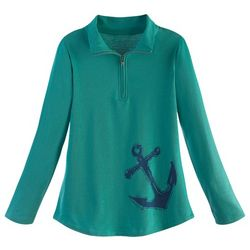 Women's Quarter Zip Anchor Sweatshirt