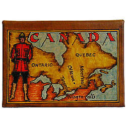 Map of Canada Leather Photo Album in Color