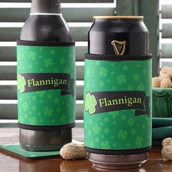 Personalized Irish Pride Can or Bottle Huggie