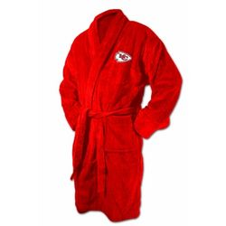 Kansas City Chiefs Red Terrycloth Logo Bathrobe
