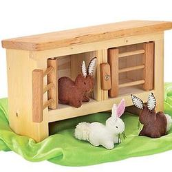 Hutch & Set of 3 Bunnies