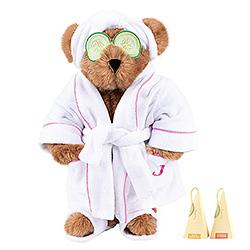 """15"""" Spa Day Teddy Bear with Gourmet Tea"""