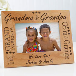 Grandma and Grandpa Personalized Frame