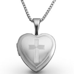 Sterling Silver Cross Baby Locket