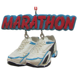 Marathon Shoes Christmas Ornament