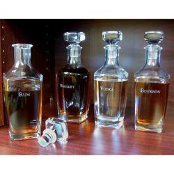 Etched Liquor Decanters