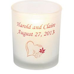 Personalized Fall Wedding Votive Holders