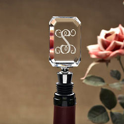 Personalized Initial Wine Stopper