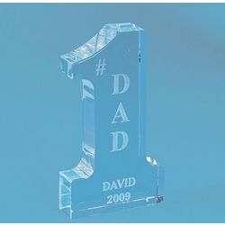 Personalized Glass #1 Dad Award
