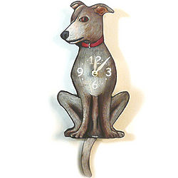 Tail-Wagging Greyhound Pendulum Clock