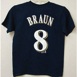 Youth Milwaukee Brewers Braun T-Shirt