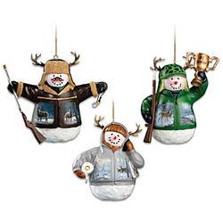 Deer Snowman Ornaments