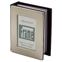 Personalized Pewter Finish Mini Photo Album