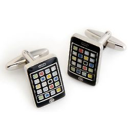 iPhone Cufflinks with Personalized Case