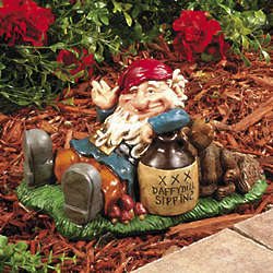 Happy Gnome Garden Statue