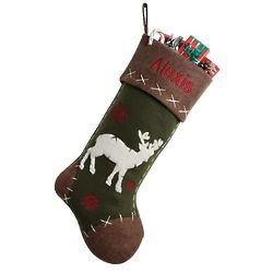 Personalized Rustic Deer Stocking
