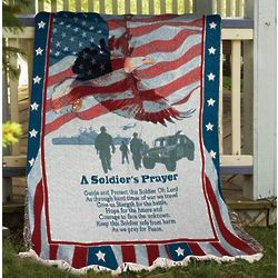 A Soldiers Prayer Tapestry Throw