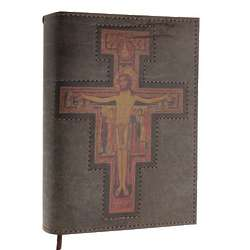 Leather Missal Cover with San Damiano Cross