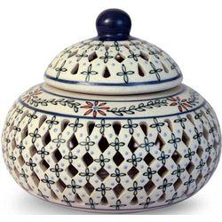 Handcrafted Floral Ceramic Jar