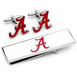 University of Alabama Cuff Link and Money Clip Gift Set