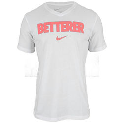 Men's Roger Federer Betterer V-Neck White Tennis T-Shirt