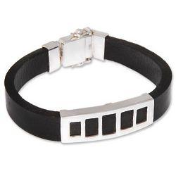 Men's Futurist Leather Bracelet