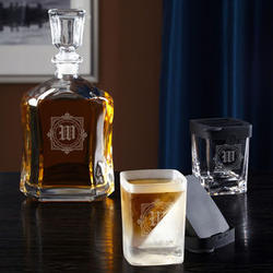 Personalized Winchester Decanter and Whiskey Wedge Glass
