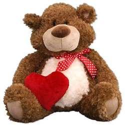 "Cute Valentine's Day 15"" Teddy Bear with Heart"