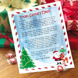 Personalized Christmas Holiday Letter from Santa