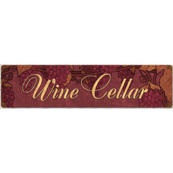 Wine Cellar Metal Sign